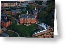 Aerial Of Woodburn Hall Greeting Card by Dan Friend