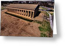 Aerial Photography Of The Parthenon Greeting Card by Dan Sproul