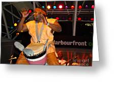 African Drummer Greeting Card by Eva Kato