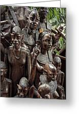 African Family Tree Of Life Greeting Card by Daniel Hagerman