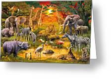 African Harmony Greeting Card by Jan Patrik Krasny