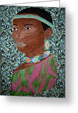 African Queen Greeting Card by Linda Egland