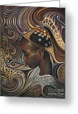 African Spirits II Greeting Card by Ricardo Chavez-Mendez