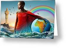 The Lupita Tsunami Greeting Card by Anthony Mwangi