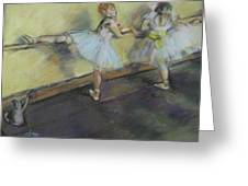 After Degas 2 Greeting Card by Dorothy Siclare