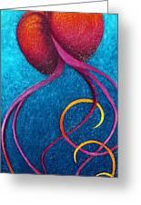 After Glow Greeting Card by Karen Balon