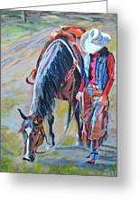 After The Ride Greeting Card by Anne West