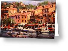 Afternoon In Cassis Greeting Card by R W Goetting