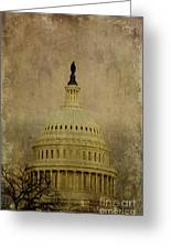 Aged Capitol Dome Greeting Card by Terry Rowe