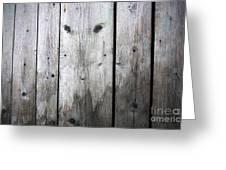 Aged Wood Boards Greeting Card by Jolanta Prunskaite
