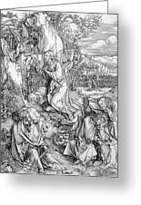 Agony In The Garden From The 'great Passion' Series Greeting Card by Albrecht Duerer