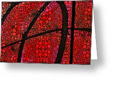 Ah - Red Stone Rock'd Art By Sharon Cummings Greeting Card by Sharon Cummings