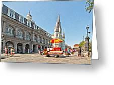 Ahh...new Orleans Sketch Greeting Card by Steve Harrington