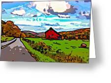 Ah...west Virginia Line Art Greeting Card by Steve Harrington