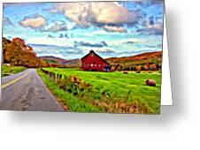 Ah...west Virginia Oil Greeting Card by Steve Harrington
