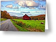 Ah...West Virginia painted Greeting Card by Steve Harrington