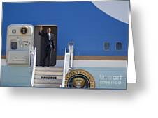 Air Force One Greeting Card by Jim West