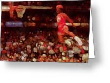 Air Jordan Greeting Card by Dan Sproul