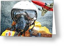 Air Pilot Greeting Card by Liane Wright
