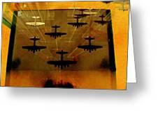 Air War Greeting Card by Randall Weidner