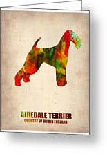 Airedale Terrier Poster Greeting Card by Naxart Studio