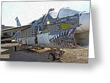 Airplane Graveyard - 05 Greeting Card by Gregory Dyer