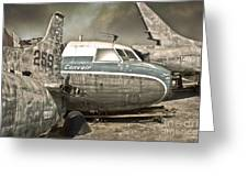 Airplane Graveyard Greeting Card by Gregory Dyer