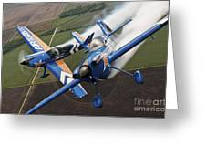 Airplanes Perform At The Sound Of Speed Greeting Card by Stocktrek Images