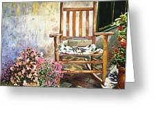 Aix Country Patio Greeting Card by David Lloyd Glover