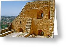 Ajlun Castle In Jordan Greeting Card by Ruth Hager