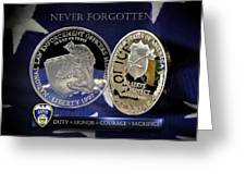 Akron Police Memorial Greeting Card by Gary Yost