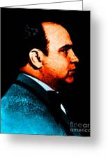 Al Capone C28169 - Black - Painterly Greeting Card by Wingsdomain Art and Photography