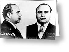 Al Capone Mug Shot Greeting Card by Unknown