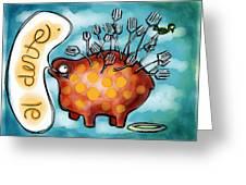 Al Dente Greeting Card by Kelly Jade King