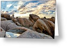 Alabama Hills Sunset Greeting Card by Cat Connor