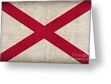 Alabama State Flag Greeting Card by Pixel Chimp