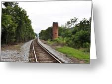 Alabama Tracks Greeting Card by Verana Stark