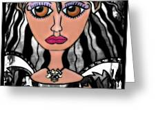 Alalia The Quiet One Greeting Card by Tisha McGee