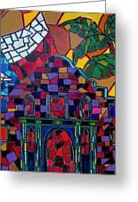 Alamo Mosaic Greeting Card by Patti Schermerhorn