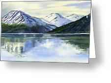 Alaska Mountain Reflections Greeting Card by Sharon Freeman