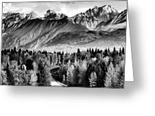Alaskan Mountains Greeting Card by Katie Wing Vigil