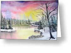 Alaskan Sunset Greeting Card by Kevin  Brown