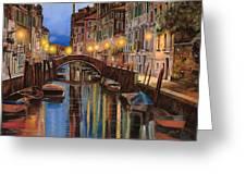alba a Venezia  Greeting Card by Guido Borelli