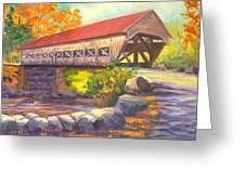 Albany Covered Bridge #49 Greeting Card by Elaine Farmer