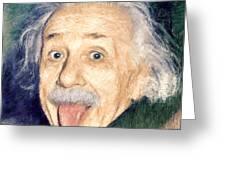 Albert Einstein Impressionist Greeting Card by Giuseppe Persichino