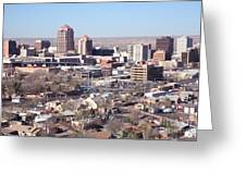 Albuquerque Skyline Greeting Card by Bill Cobb