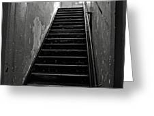 Alcatraz Hospital Stairs Greeting Card by RicardMN Photography