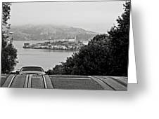 Alcatraz Island From Hyde Street In San Francisco Greeting Card by RicardMN Photography