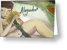 Alejandro Greeting Card by Vickie Meza