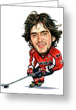 Alexander Ovechkin Greeting Card by Art